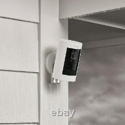 Ring Stick Up Indoor/Outdoor Wire free Security Camera White 2nd Gen