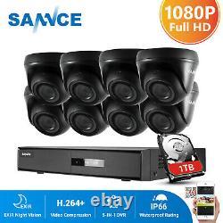 SANNCE 1080P HDMI 8CH/4CH CCTV DVR 1080P Outdoor IR Home Security Camera System