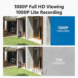 SANNCE 4CH DVR 1080P Video Home Security Camera System Outdoor CCTV H. 264+ Onvif