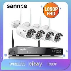 SANNCE Wireless Wifi 8CH 5MP NVR 1080P CCTV IP Camera HD Home Security System US