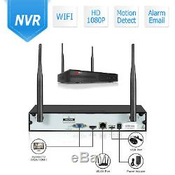 Security Camera System Wireless Home Audio 1080P 8CH Outdoor 1TB Hard Drive CCTV