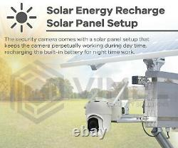 Security Solar Charged PTZ Camera with 4G WIFI Network IR Night Vision