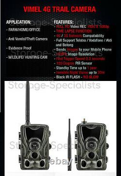 Trail Camera 4G Wireless Home Security 3G Remote monitoring MMS Waterproof