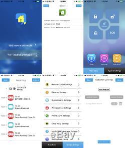 U70 APP WiFi GSM RFID Wireless Home Security Alarm Burglar System+2 HD IP Camera