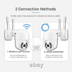 US 1080P Wireless WIFI IP Camera Outdoor CCTV HD PTZ Smart Home Security IR Cam