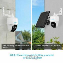 WIFI Security Camera 1080P Battery Pan Tilt Outdoor PIR Argus PT + Solar Panel