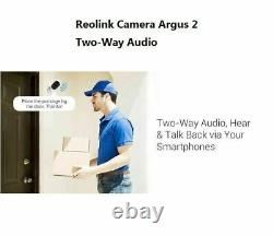 WIFI Security Camera Rechargeable Battery Powered Argus2 & Solar Panel 4-Set