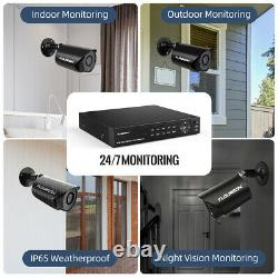 Waterproof 4CH 1080N AHD DVR CCTV Home Security Camera System Kit Night Vision