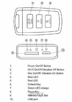 Wireless Evidence 128GB WIFI Proof Hidden Car Key Security Spy Camera