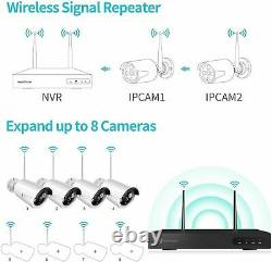 Wireless Full 1080P 8CH NVR 4x 2MP Outdoor WIFI Security IP Camera System CCTV