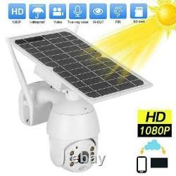 Wireless Security Camera 1080P WIFI Solar Powered Waterproof 32G Memory Card