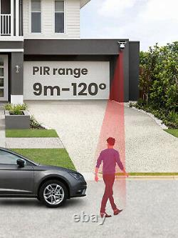 Wireless Solar Power WiFi Security Camera Waterproof Outdoor Surveillance Camera