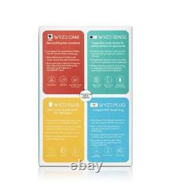 Wyze Smart Home Starter Bundle W Camera, Motion Sensor, Smart Plugs & LED Bulbs