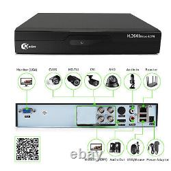 XVIM 5in1 4CH 1080P DVR 1920TVI IR Night Vision Home Security Camera System US