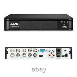 ZOSI 1080p Night Vision 8CH DVR IR CCTV Outdoor Home Security Camera Wire System