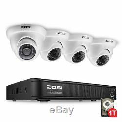 ZOSI 720P 8CH HDMI DVR 1500TVL IR Outdoor CCTV Security Dome Camera System 1TB
