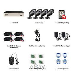 ZOSI 8CH 1080N DVR 2TB HD Outdoor 1080p Home Surveillance Security Camera System