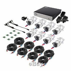 ZOSI 8CH 1080p DVR 2TB HDD 8 2MP Outdoor Camera IR Home Security Camera System