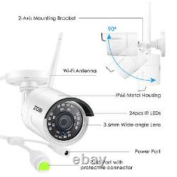 ZOSI 8CH HD 1080p Security IP Camera System Wireless 2MP WIFI NVR Kit Outdoor