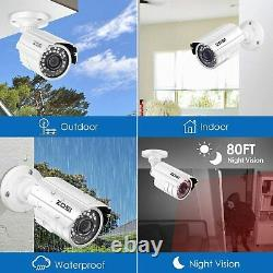 ZOSI 8CH HD DVR 1080P Home Outdoor Night Vision CCTV System Security Camera
