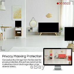 ZOSI HD 8CH H. 265 5MP Lite DVR 1080P IR Outdoor CCTV Home Security Camera System
