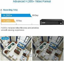 ZOSI H. 265 2.0MP 1080P HDMI TVI DVR 1500TVL Outdoor CCTV Security Camera System