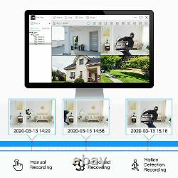ZOSI H. 265 Home Security Camera System 1080p with Hard Drive 1T 8CH 5MP Lite DVR