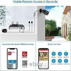 ZOSI h. 265+ 4CH 5mp Lite DVR Outdoor Home CCTV 1080p Security Camera System
