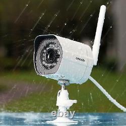 Zmodo 1080P 4 Pack Smart Security Camera WiFi Outdoor Security Camera Renewed