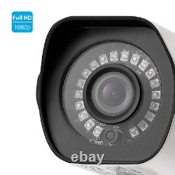 Zmodo 1080p CCTV WiFi Security Bullet IP Camera 3 Pack Outdoor IR Cut