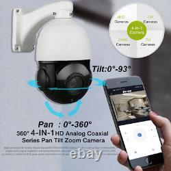 1080p 2mp Ptz Caméra Ahd 30x Zoom Vitesse Dome Extérieur Ir-cut Cctv Sécurité Osd