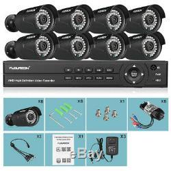 1080p 3000tvl Sécurité Extérieure 8ch 1080n Ahd Dvr Caméra Accueil Cctv Kit Ir 1 To Hdd