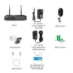 1080p Sans Fil Wifi 8ch Nvr Home Security System Extérieur Cctv Ip Camera Ir Cut