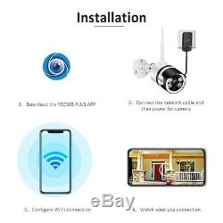 1080p Système De Caméra De Sécurité Sans Fil Wifi Extérieure Vision Nocturne 2 Voies Audio Etats-unis