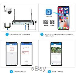 1080p Système De Caméra Sans Fil Home Security Kit Wifi Enregistrement Audio Nvr 8ch Cctv
