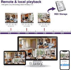1080p Vidéo Hd 16ch 1080p Dvr Maison Ir Système De Caméra De Sécurité H. 265+ Cctv 2tb