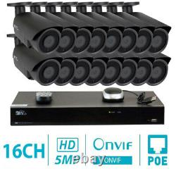 16 Canal 4k Nvr 16 X 5mp 1920p Poe Ip Outdoor Home Security Camera System 2 To