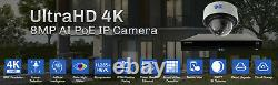 16 Channel 4k Nvr 16 8mp Poe Ai Couleur Vision De Nuit Système De Caméra De Sécurité 16tb