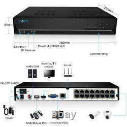 16ch Poe Nvr Network Video 3tb Hdd Pour La Sécurité 4mp 5mp Caméra Reolink Rln16-410