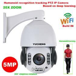20x Zoom 5mp Reconnaissance Humanoïde Sans Fil Piste Automatique Ptz Ip Caméra MIC Carte Sd