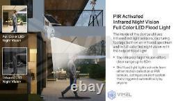 24/7 Solar Powered 4g Security 128go Flood Light Led Ptz Home Camera Outdoor