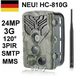 24mp 3g Wildkamera Hc-810g Fotofalle Überwachungskamera Gprs 120 ° Hd Jagdkamera