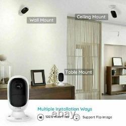 2-set 1080p Caméra De Sécurité Batterie Rechargeable Alimenté En Plein Air Reolink Argus 2