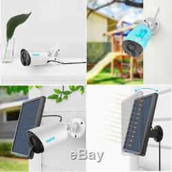 2set Caméra Sans Fil De Sécurité Fil-hd 1080p Reolink Argus Eco & Solar Panel