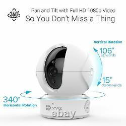 2x Ezviz 1080p Indoor Pan/tilt Wifi Security Camera, 360° Full 2-way Talk C6cn