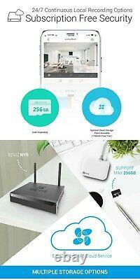 2x Ezviz Caméra De Sécurité Extérieure Wifi 1080p Smart Colored Night Vision C3n