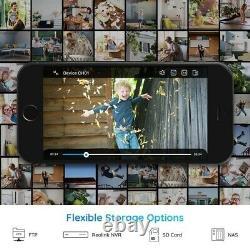 2x Reolink 4mp Wifi Caméra De Sécurité Ip 2.4/5g Dual Band Outdoor Audio Rlc-410w