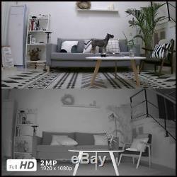 2x Sans Fil Wifi Hd Caméra Ip 1080p Rechargeable Reolink Argus Pro + Panneau Solaire