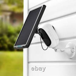 2x Wifi Ip Security Camera 1080p Pir Batterie Powered Argus Pro Avec Panneau Solaire