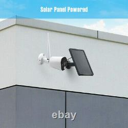 2x Wireless Solar Battery Powered Outdoor Audio Security Camera System 1080p USA